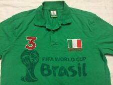 Mexico Brasil FIFA World cup short sleeve polo shirt Mens Small - Medium No Tag