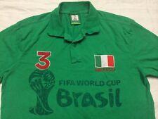 Mexico Brasil FIFA World cup short sleeve polo shirt Mens Small - Medium No Tag