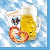 200 Servietten 3-lagig 1/4-Falz 33 cm Bavaria Bayern Oktoberfest Wiesn