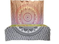 Mandala Lotus Blume Baumwolle Indischer Wandbehang Yoga Deko Tuch 210X230cm Rosa