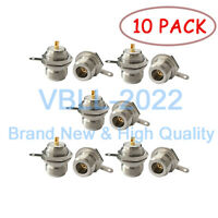 10X N-Type Female Jack Panel Mount With Nut Solder Cup RF Coax Adapter Connector