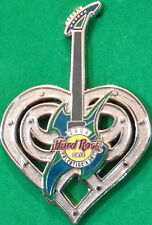 Hard Rock Cafe ONLINE 2004 Valentine's Day PIN Silver Barbed TATTOO HEART Guitar