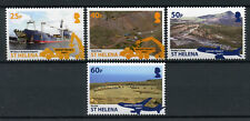 St Helena 2014 MNH Airport Project Part I 4v Set Ships Aviation Stamps