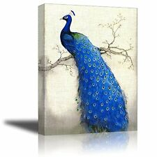 [Framed] Beautiful Peacock Animals Canvas Art Prints Picture Wall Home Decor