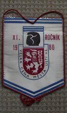 1980 Czechoslovakia Boxing Title Fight Usti nad Labem Glove Lion Pennant Flag