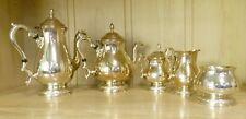 5 Pc Vintage Prelude-Plain International Sterling Coffee/Tea Set w/Waste Bowl