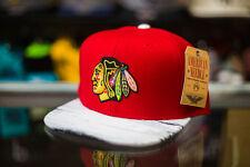 American Needle Chicago Blackhawks White Wash Snapback Hat