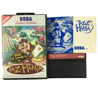 Sega Classics Master System Game TAZ-MANIA Complete In Case With Manual Ozi Soft