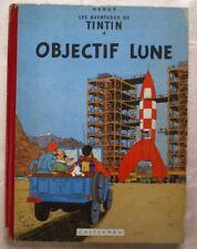 Tintin Objectif Lune HERGE éd Casterman B 8 1953 EO