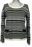 MAISON SCOTCH PATTERNED SWEATER, 1, $195