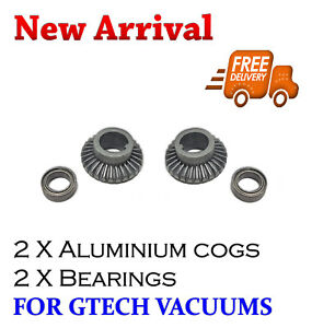 2 x Gtech AirRam Vacuum Cleaner Aluminium Gear & Bearing AR01 AR02 AR05 MK1 K9