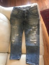 jack and jones mens jeans Cropped made in Italy Size W33 L32