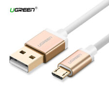 Cable Micro USB carga rapida movil UGREEN dorado metalizado 1M, 2M, 3M