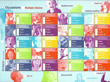 GREAT BRITAIN Royal Mail 2003 OCCASIONS Multiple Choice SMILERS FULL SHEET