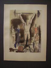 MILIVOJ UZELAC Les Joies du Sport SOLLEVAMENTO PESI, litografia e pochoir, 1932