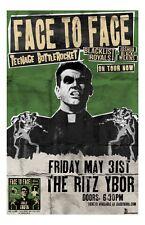 Face To Face w/ Teenage Bottlerocket * 11 x 17 Original Concert Poster