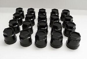 82-02 FIREBIRD CAMARO Z28 RS GTA TA BLACK LUG NUT SCREW ON CAP 20 COVERS 611-605