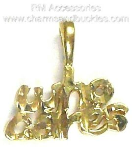 Who Cares Word Charm / Pendant EP Gold Plated with a Lifetime Guarantee