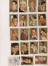 Lot of 154 1930's US &  Bulgaria Cig.Movie Stars Cards-Gable,Garbo,etc.