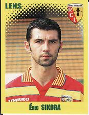 N°138 ERIC SIKORA RC.LENS VIGNETTE PANINI FOOTBALL 98 STICKER 1998