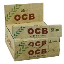 OCB ORGANIC HEMP ROLLING PAPERS (50 BOOKLETS) FULL BOX CHEAPEST! BARGAIN GENUINE