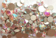 MIXED SIZES 144 x Swarovski 2058 Crystal AB Flatback Rhinestone Crystal Nail Art