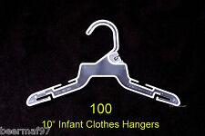 "100 Retail Store Shirt Clothes Hangers 10"" [25cm] Plastic Infant Baby 0-24 Month"