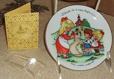 Avon Joan Walsh Anglund Mini Collector Plate School is a New Beginning 1986