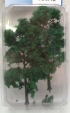 """Trees - Forest Green  TRE6FG  model scenery O Scale 2 trees MBS 5-1/2"""" tall 135m"""