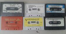 commodore 16 games bundle - cassette games lot x6