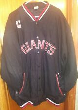 Giants Negro Baseball League Black Wool Blend Lined Varsity Jacket Men's Sz 4XL