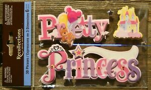 Recollections 3D Phrases Expressions Pretty Princess Scrapbooking Crafts