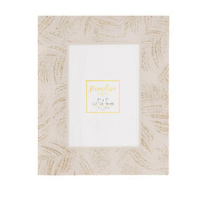 """Gold Leaf Effect Lux Photo Picture Frame 4"""" X 6"""" Palm Glitter Stylish Gift"""