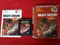 NIGHT DRIVER VIDEO GAME BOXED WITH INSTRUCTIONS ATARI 2600 PAL