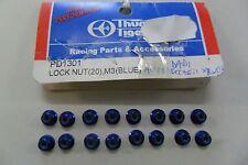 THUNDER TIGER 16 DADI AUTOBLOCCANTI BLU PER RUOTE  BLUE LOCK NUT M3  ART PD1301