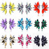 Fashion Women Rhinestone Crystal Resin Wings Shape Ear Stud Earring Jewelry Gift
