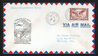 1937 CANADA MANSON CREEK TO PRINCE GEORGE FIRST FLIGHT COVER SCOTT #C5 AIRMAIL