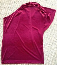 QVC Annalee + Hope One Shoulder Stretch Velvet Tunic Size Large Bnwt
