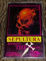 Sepultura ‎– Beneath The Remains. Cassette Tape *Plays Well* Black/Thrash