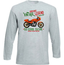 VINTAGE INSPIRED ITALIAN MOTORCYCLE LAVERDA TT1 - NEW COTTON T-SHIRT