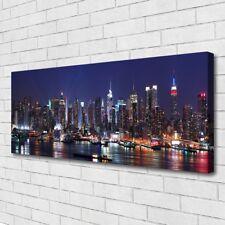 Leinwand-Bilder Wandbild Canvas Kunstdruck 125x50 Wolkenkratzer Skyline Gebäude