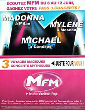 Publicité Advertising 117  2009   radio  MFM Madonna Mylène Farmer Michael Jacks