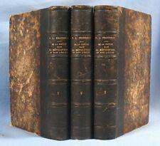 De La JUSTICE dans la RÉVOLUTION / PROUDHON / 3 Tomes / 1ère edit. Garnier 1858