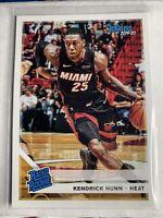 2019-20 Panini Chronicles Donruss Kendrick Nunn Rated Rookie Miami Heat #199 RC