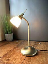 LOVELY MODERN DAR LIGHTING BRASS FINISH GOOSENECK TOUCH LAMP DESK BEDSIDE TABLE