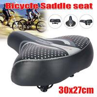Comfort Extra Wide Big Bum Bike Bicycle Gel Soft Pads Saddle Seat Sporty Black