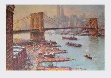 Jack Lorimer Gray Brücke New York Kunstdruck Poster Bild seltener Lichtdruck