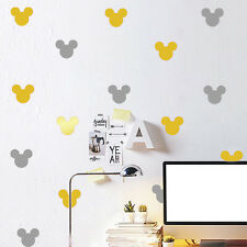 Set of 48 Pcs Mickey Mouse Head Wall Stickers Nursery Decor Kids Art Mural Decal