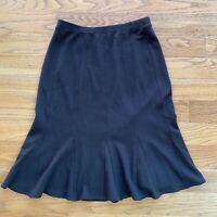 Eileen Fisher Women Skirt Wool Blend Gray/Brown Pull On Flare Size S