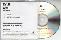 KYLIE MINOGUE Wow: The Remixes 2008 UK 3-track promo only CD CSS